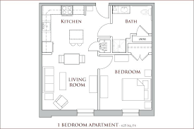 apartment square footage 1 bedroom house plans cony street flatiron apartments 1 bedroom