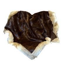Real Fur Blankets Glacier Wear Fur Blankets Fur Comforters And Fur Pillows For Sale