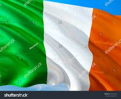 Green White Orange Flag Ireland Ireland Flag Irish 3d Waving Stock Illustration 725402518