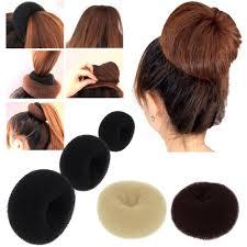 hair bun maker instructiins lady s girls sponge hair styling tool bun maker ring donut shaper