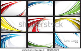 Free Graphics For Business Cards Free Vector Green Wavy Business Card Download Free Vector Art