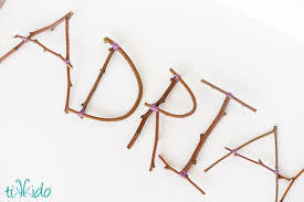 how to make rustic letters out of sticks and branches tikkido com