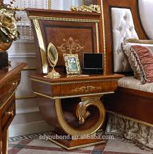Bedroom Furniture Solid Wood Construction 0038 European Classic Solid Wood Bedroom Furniture High Quality