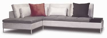 sleeper sofa seattle white wooden l shape sofa with thin legs combined with gray velvet