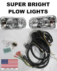 wiring snow plow lights universal halogen snow plow lights super bright light kit wiring