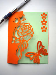 greeting card how to diy kirigami and butterfly greeting card
