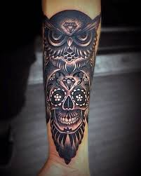 forearm skull tattoos binge thinking