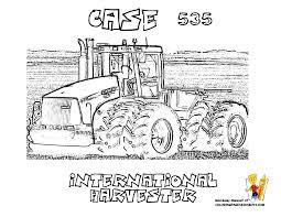 case ih combine coloring pages