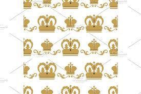 crown king vintage premium seamless pattern background heraldic