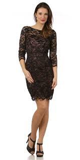 black dresses for a wedding guest mid length sleeve vintage black lace dress modest neckline taupe