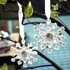 snowflake ornaments wedding favors beaded snowflake ornaments with