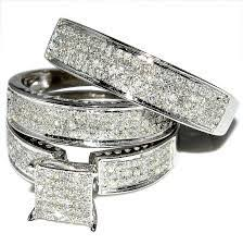 wedding bands sets his and matching wedding ring set his and hers match bands mens womens engagement