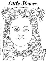 little flower saint therese of lisieux coloring page u2013 immaculate