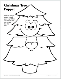 christmas tree puppet small paper bags puppet and christmas tree