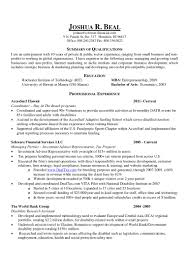 Best Font For Mba Resume by Resume Joshua R Beal Mba