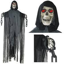 Motion Sensor Halloween Decorations by Amazon Com Morris Costumes Hanging Phantom 72 In Animated Clothing