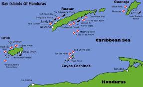 map of roatan honduras honduras bay islands roatan utila guanaja diving information dive