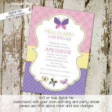 butterfly baby shower invitation sprinkle couples diaper