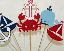 Nautical Baby Shower Decorations Nautical Baby Shower Or Birthday Party Personalized
