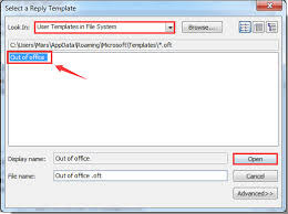 how to set up auto reply out of office in outlook
