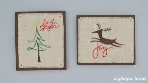 burlap christmas wall art swell noel 39 positively splendid