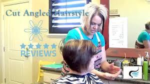 radona hair cut video short angled bob how to style short angled bob haircut youtube