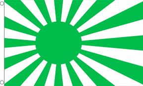 japan sun rising green 5 x 3 flag