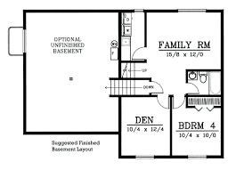 basement home floor plans small house plans with basement small house floor plans with