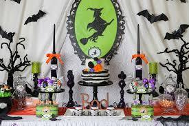 creepy halloween party table decoration 3d bat ornament witch
