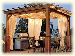 Pergola With Curtains I Adore This Pergola I Like The Lighting And The Curtains All