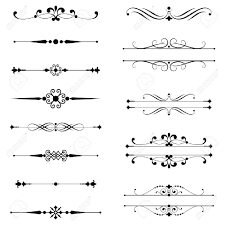 typographic ornaments rule lines set of text dividers royalty