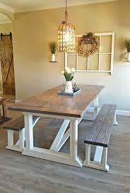Rustic Farmhouse Dining Table With Bench Farmhouse Dining Set With Bench Tags Awesome Custom Kitchen