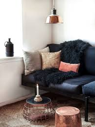 Black Living Room Tables How To Decorate A Living Room With A Black Leather Sofa Decoholic