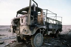 gaz 66 a demolished iraqi gaz 66 8000 pound truck in the euphrates river