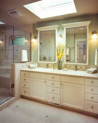 Double Vanity Mirrors For Bathroom by Lighted Bathroom Mirror Bathroom Contemporary With Floating Vanity
