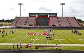 mustang broncos football mustang high ready to in football stadium ok