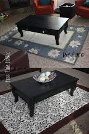 Diy Outdoor Rug With Fabric Before U0026 After Spray Painted Chevron Carpet Fabric Spray Paint