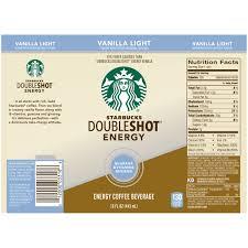 starbucks doubleshot vanilla light starbucks doubleshot energy ace energy