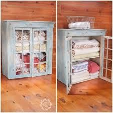 turn an old cabinet into a linen closet hometalk