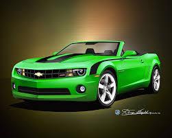 green camaro ss 2010 2011 camaro ss rs car print poster print by danny