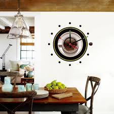 horloges cuisine diy vinyle stickers muraux horloge cuisine café décor la nouveauté