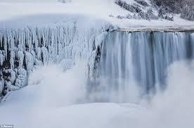 niagara falls comes to frozen halt again as subfreezing