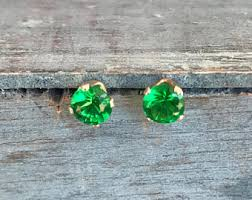 sparkly green earrings earring solitaire g etsy