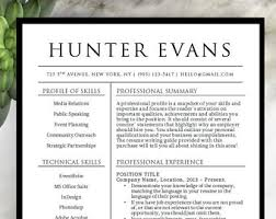 template for professional cv resume template etsy