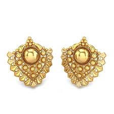 gold ear ring yellow gold 22k advika gold earring candere