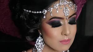 real walima reception bride heavy smokey eyes contemporary asian bridal makeup bridal tutorial of smokey 2016