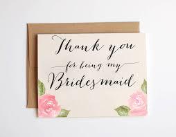 in bridesmaid card thank you bridesmaid cards thank you for being my bridesmaid card