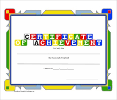 preschool certificates preschool achievement certificates preschool certificate template