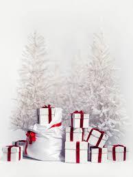 white christmas trees white christmas trees boxs photo backdrop vinyl cloth high quality