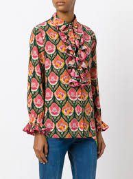 printed blouse gucci ruffled printed blouse 2 200 buy mobile